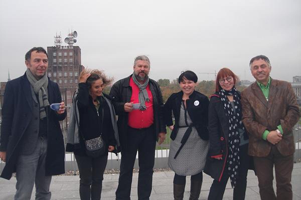 od lewej: Jens Gussek, Pilar Aldana- Mendez, Vesa Varrela, Agnieszka Leśniak-Banasiak, Marta Gibiete, Kazimierz Pawlak