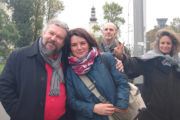 from left: Vesa Varella, Magdalenia Pejga, Pilar Aldana-Mendez