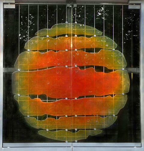 """13. """"Słońce"""" - proj. Zbigniew Horbowy, Krzysztof Wołowski, 2008, Urząd Stanu Cywilnego, ul. Pawła Włodkowica 20 (fasada), fot. Monika Muszyńska"""